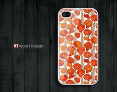 iphone 4 case iphone 4s case iphone 4 cover classic illustrator red poppy  flower graphic design printing. $13.99, via Etsy.