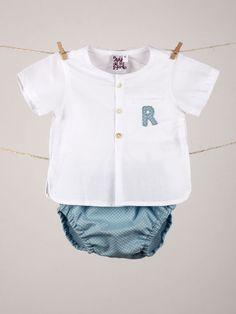 #conjunto #camisa con #inicial y #coulotte a juego