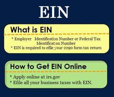 Apply for ein number online