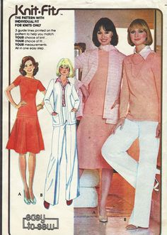 70s McCalls Sewing Pattern 5007 Womens Cardigan by CloesCloset