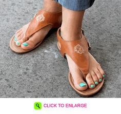 MONOGRAMMED CAMEL SOHPIE SANDAL #sandals #flipflop #monogram #ddp #cute #summer #sophie #camel #color #lightbrown #love
