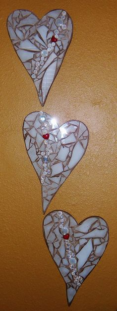 Hearts for Southwest Airlines! Mosaic Rocks, Mosaic Glass, Glass Art, Heart Of Life, My Heart, Cross Heart, Southwest Airlines, Mosaic Projects, Stained Glass Patterns