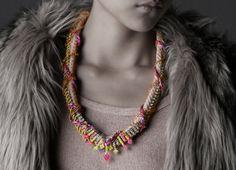 Elliott Chunky Neon Necklace tribal necklace by nutcasefashion on Etsy