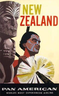 New Zealand - Pan American (1960s)uma das viagens mais marcantes de minha vida