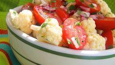 Crunchy Cauliflower and Tomato Salad