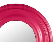 Add a touch of colour with this round mirror in cerise