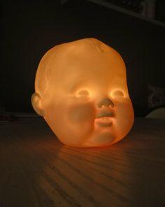 Creepy Porcelain Babydoll head tealight or votive by reshapestudio, $55.00