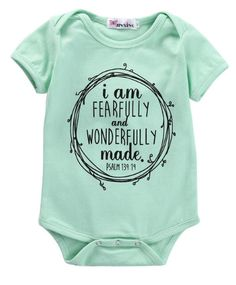 I AM FEARFULLY AND WONDERFULLY MADE PRICE $10.99 OPTIONS: 0/6M, 6/12M, 12/18M, 18/24M