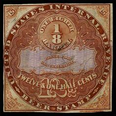 United States, Scott REA14. 12 1/2c Brown, MC, wonderful deep dark color and strong impression, some thins and tears, four clear margins, Very Fine appearance Catalog value: 350.00  Dealer Aldrich Auction  Auction Starting Price: 150.00 US$