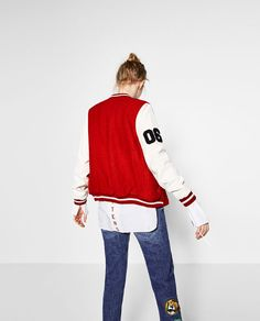 Image 6 of TWO-TONE BOMBER JACKET from Zara
