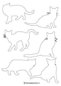 Sagome Di Gatti Da Stampare Colorare E Ritagliare Gatti E Cani