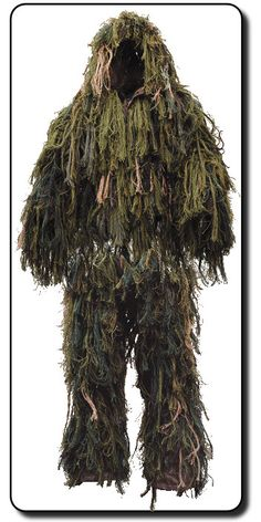Am I crazy to think this would make a great costume? A Ghillie Suit is actually for hunting... but I think it's an awesome Swamp Yeti suit.