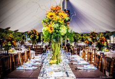 Boho Chic Classic Formal Rustic Vintage Centerpiece Sunflower Wildflower Wedding Flowers Photos & Pictures - WeddingWire.com