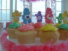 carebears birthday cupcake tower by Yummy Piece of Cake, via Flickr