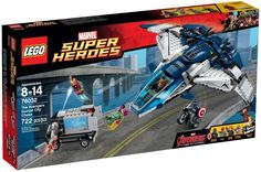 Lego 76032 Marvel Superheroes Age of Ultron The Avengers Quinjet City Chase for sale online Lego Deadpool, Lego Marvel's Avengers, Lego Marvel Super Heroes, Lego Clones, Die Rächer, Disney Planes, Age Of Ultron, Lego Technic, Avengers Infinity War