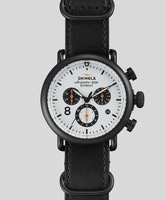 Runwell Contrast Chronograph Watch by Shinola #men #watches #chronograph #shinola