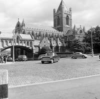 Christ Church Cathedral includes arch leading to chapterhouse Dublin Old Photos, Vintage Photos, Dublin City, The Good Place, Cathedral, Ireland, Arch, In This Moment, History