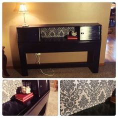 bookcase headboard to hall table, painted furniture, repurposing upcycling