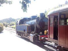 Train á vapeur van St. Jean de Gard naar Anduze-Cevennen