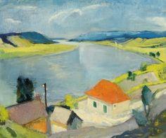 Szőnyi István - Zebegény napsütésben, 1931