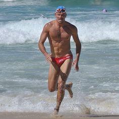 Mr red speedo #seastalia bondibeac #Bondi #nsw #australia #beach #sydney #nofilter #swimmer #speedo