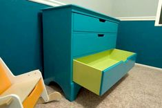 Bring some color into your dresser.  Paint the inside of the drawers a contrasting color. Think of all the color combinations that are possible!