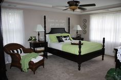 Apple Green Accented Bedroom
