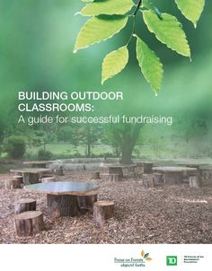 Building Outdoor Classrooms: A Guide for Successful Fundraising ` For more information, Please see websites below: ` Organic Edible Schoolyards & Gardening wit… [This website focuses on having classes outdoors - BN] Outdoor Learning Spaces, Outdoor Education, Outdoor Classroom, Outdoor School, Forest Classroom, Outdoor Playground, Playground Ideas, Gymnasium, Green School