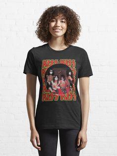 """KISS Band"" T-shirt by ind3finite | Redbubble Kiss Band, Shirt Designs, T Shirts For Women, Stuff To Buy, Tops, Fashion, Moda, Shell Tops, Fasion"
