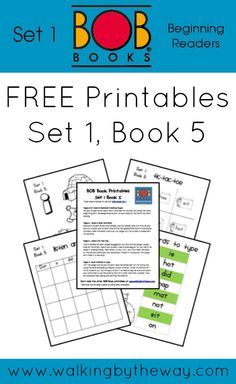 FREE BOB Book Printables for Set 1 Book 5 from Walking by the Way