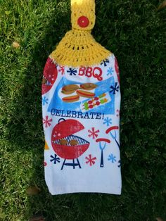 BBQ. Hanging Kitchen Towel by Tambowsdesigns on Etsy