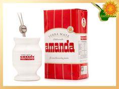 Zestaw Amanda ceramika | http://www.herbatkowo.com.pl/  Zestaw firmowy marki Amanda do Yerba Mate, zapakowany jest w pudełko kartonowe przez producenta w Argentynie.  Jako prezent - to znakomity wybór na każdą okoliczność.