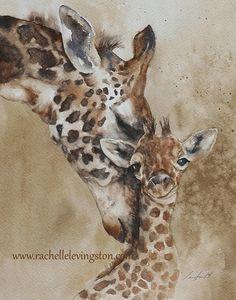 ORIGINAL peinture aquarelle, peinture aquarelle originale, peinture aquarelle animaux girafe peinture art 11 x 14 Conseil personnalisé