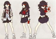 'Kill La Kill' illustrations by Sushio for 'LOVE LOVE KLKL'