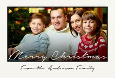 Simple, black and cream photo holiday greeting postcard! | CatPrint Design #843
