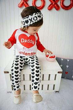 handmade baby girl daddy is my valentine t shirt this little girl - Valentines Day Outfit Baby Boy