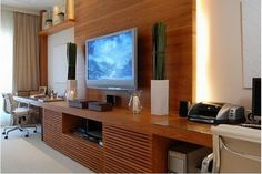 home office quarto painel tv - Pesquisa Google