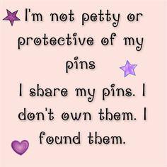 A differenza di tante persone qui , io condivido i miei pin con tutti, pinterest è condivisione  non blocco persone solo perché hanno preso qualche pin di troppo.