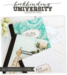 DIY Composition Books / PAP livro de notas