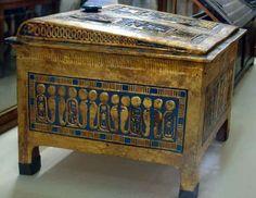 Painted box   Tomb of Tutankhamun