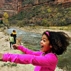 We always love seeing our Family Trails swag out and about. Here, Gabriela was using the compass at Zion, and she saw a turkey right as this photo was being taken! // Photo by Travel-Kids-Hiking