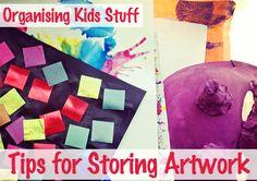 Organising Kids Stuff: Tips for Storing Artwork