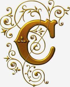 alfabeto lindo dourado - Pesquisa Google