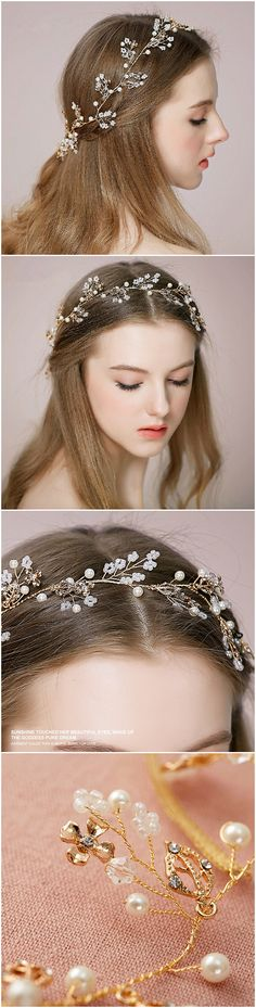 2016 trending bohemian themed bridal headbands wedding accessories Previous Post Next Post Wedding Headband, Bridal Headbands, Hair Wedding, Wedding Tiaras, Trendy Hairstyles, Wedding Hairstyles, Gold Wedding Theme, Wedding Themes, Wedding Decorations