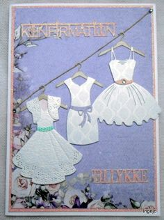 Dress Card, Communion, Projects To Try, Scrapbooking, Rose, Cards, Inspiration, Biblical Inspiration, Pink