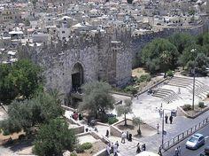 Damascus Gate from Shmidt's college  Jerusalem