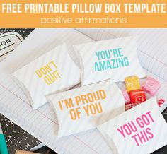 Free Printable Pillow Boxes from Pizzazzerie