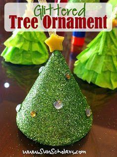 KIDSTUFF <3 Glittered Tree Ornaments