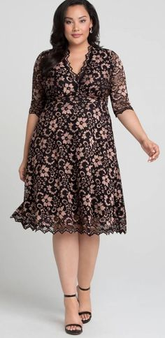 Plus Size Lace Dress - Plus Size Fashion for Women #plussize