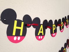 Your childs birthday party will be the Talk of the Town with this Mickey Mouse Clubhouse inspired birthday banner!      This order is for a